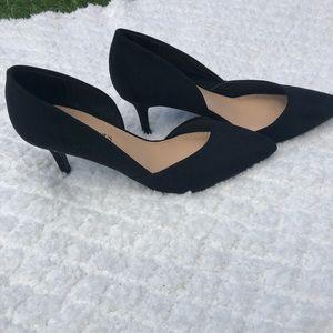 Just Fab open side low black heels